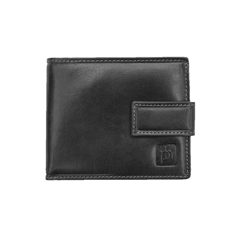 Small black leather wallet