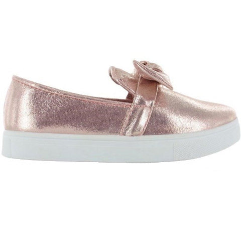 Metallic Pink Slip-on