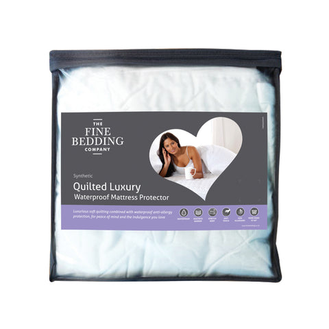 Quilted Luxury Waterproof Mattress Protector The Fine Bedding Company
