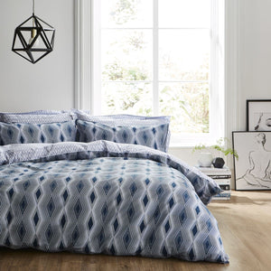 Bold Diamond Print Ziggurat Bedding Set