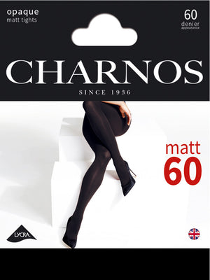 charnos black 60 den tights packaging