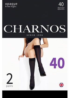 charnos matt opaque knee highs