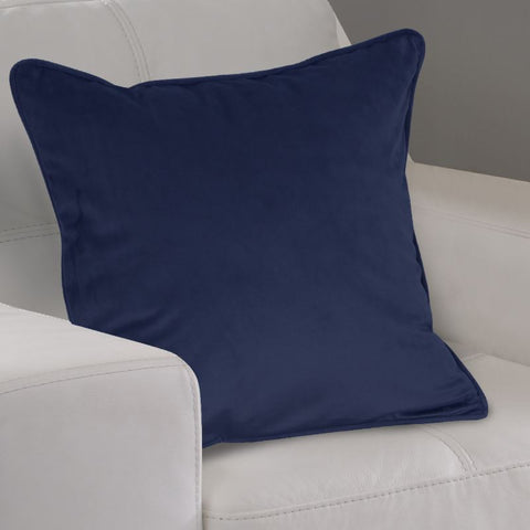 Navy Velour Cushion Cover