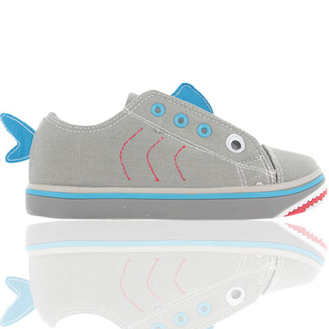 Novelty Shark Canvas Buckle My Shoe