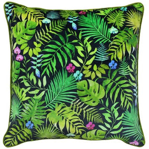 Botanical Green Square Cushion 100% Polyester