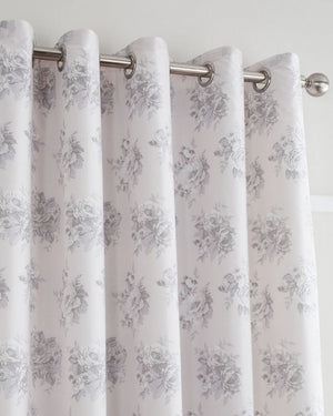 Catherine Lansfield Pink Floral Posies Curtains