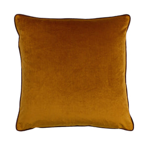 pumpkin orange velvet cushion