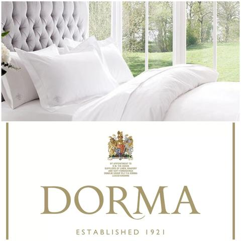 Dorma White Cotton Sateen Sheets and Pillowcases