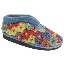 Multi Colour Ladies Fluffy Slippers with a Rubber Sole