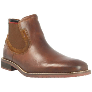 Tan leather slip on boots from Dubarry