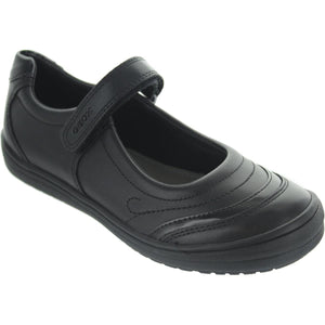 Geox Black Back to School Girls Shoes with Velcro Fastening
