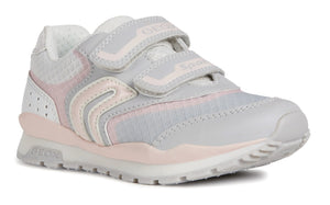 Grey & Pink Girls Runners
