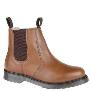 Grafters Tan Chelsea Leather Ankle Boots