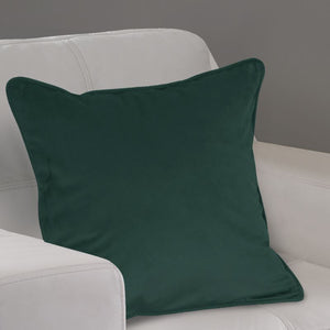 Green Velour Cushion Cover 18 in x 18 in