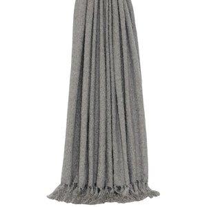 grey throw with tassel detailing