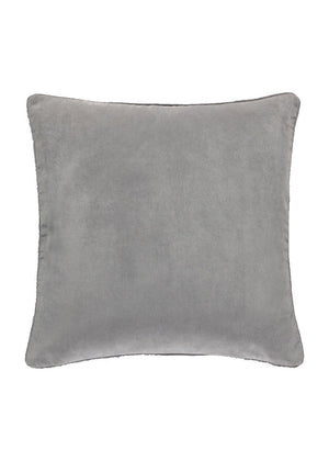 Grey Soft Touch Velour Cushion Cover 18 inch