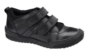 Hush Puppies Black School Shoes with Velcro Straps