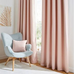 Hugo Blush Blackout Curtains