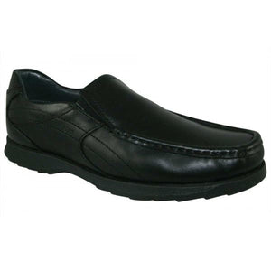 Kellan Soft Leather Boys Black School Shoes