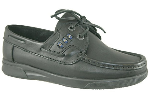 av8 black leather girls shoes