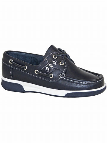 AV8 Dubarry Kapley Navy Leather School Shoe