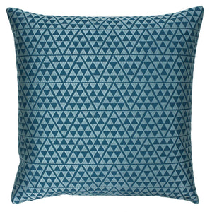 Blue and duck egg cushion cover 45cm x 45cm