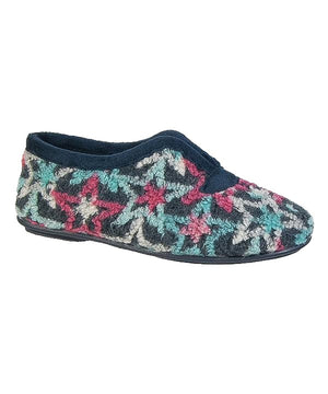 Slip On Navy Knitted Women Slippers