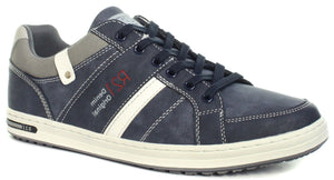 Route 21 Men's Canvas Navy Shoes