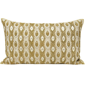 gold and cream filled cushion