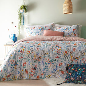 duvet cover with lady birds, butterflies and more
