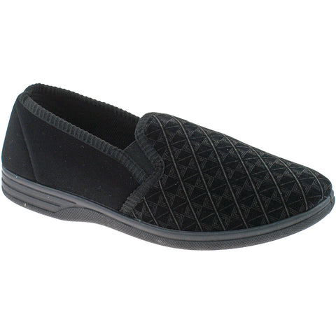 Black mens slipper
