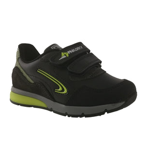 Torello Black Leather Kids Shoes Runners