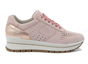 Rose Gold Platform Women's Trainers