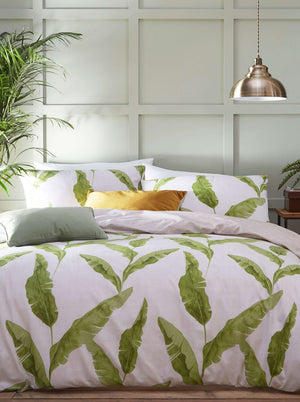 white and green duvet set nd pillow cases