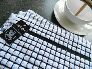 Black Samuel Lamont tea towel