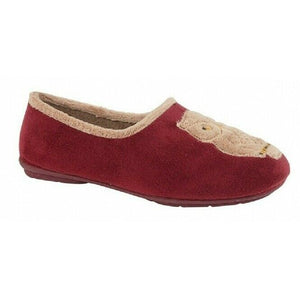 Burgundy Owl Memory Foam Slippers