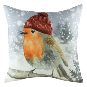 Snow Robin Cushion Cover