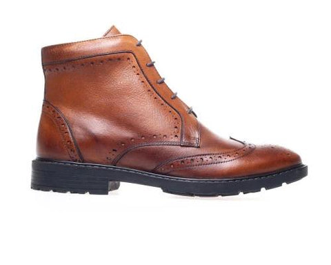 Chester Tan Brogue Men's Boots
