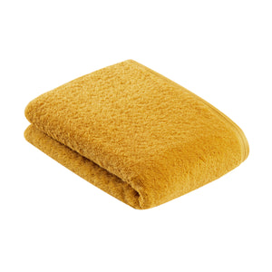 Vegan towel in yellow