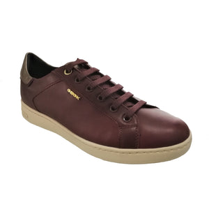 laced maroon leather geox shoe