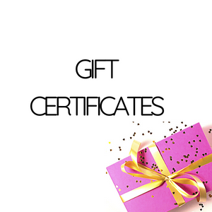We Sell Gift Certificates