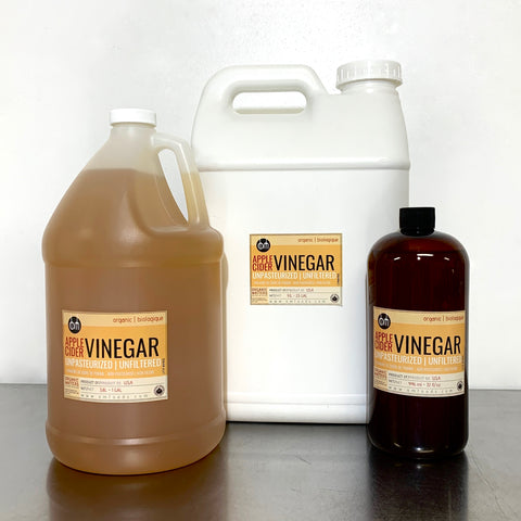 ORGANIC VINEGAR, Apple Cider, unpasteurized, raw