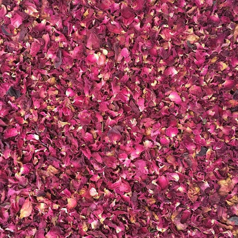 ORGANIC ROSE PETALS with buds, red | Organic Matters
