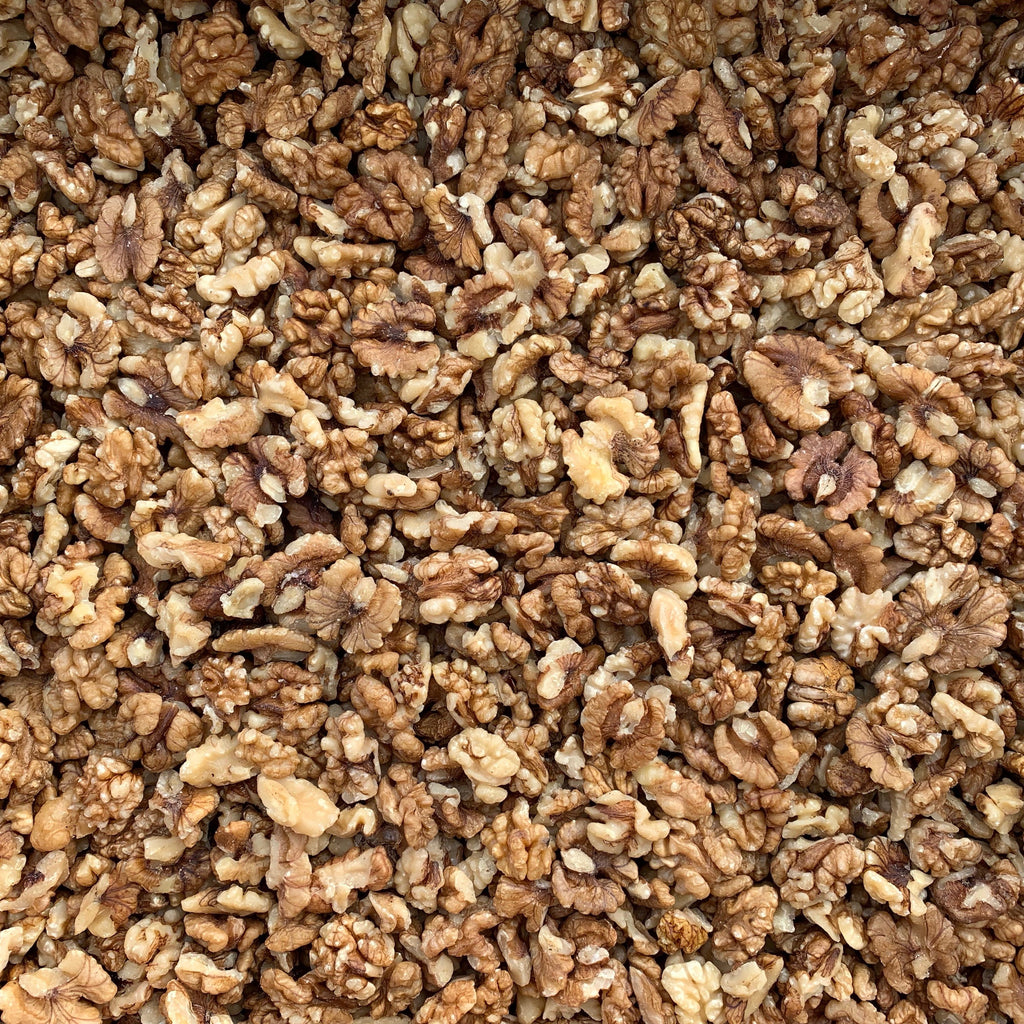 ORGANIC WALNUTS, halves & pieces, imported