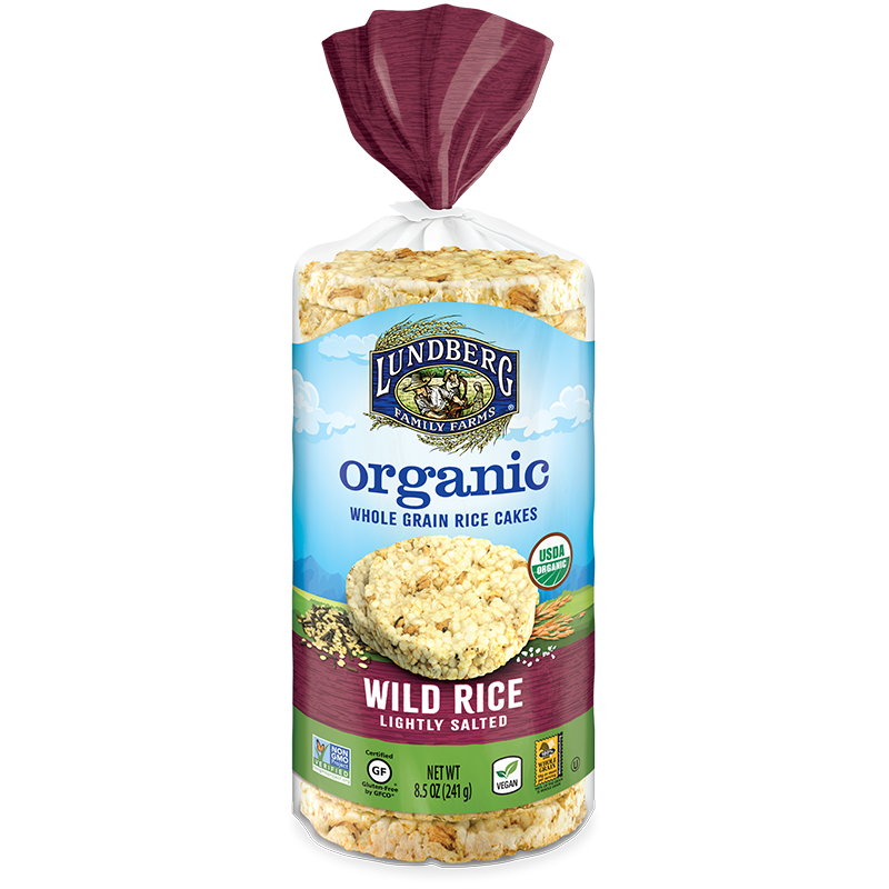 ORGANIC RICE CAKES, wild, lightly salted