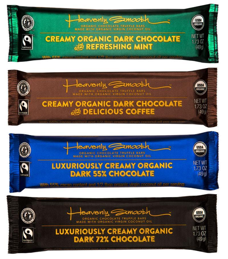 ORGANIC TRUFFLE BAR, DARK, Variety Pack