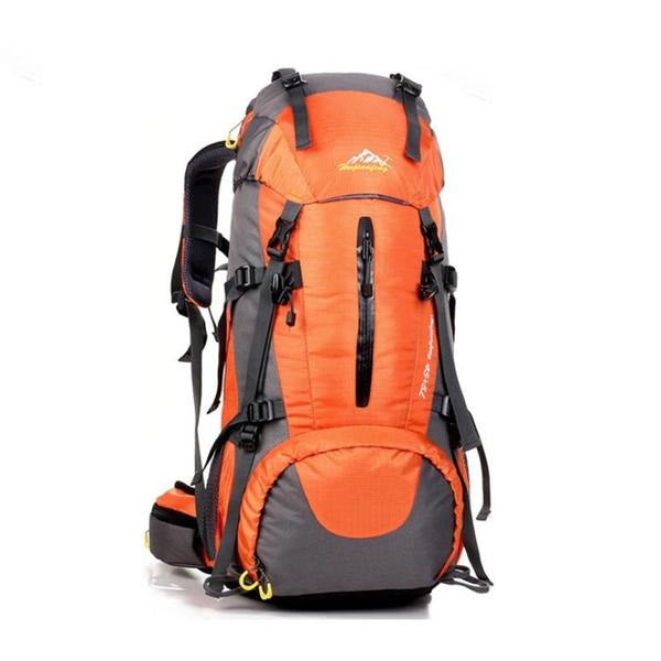 Mountaineering Waterproof Backpack (50-70L) with Folding Shoulder Handbag Tote
