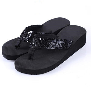 Sequins Bling Beach Flip Flops/Sandals