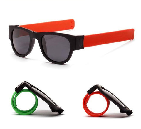 Hot New Slap Bracelet Sunglasses Folding Shades