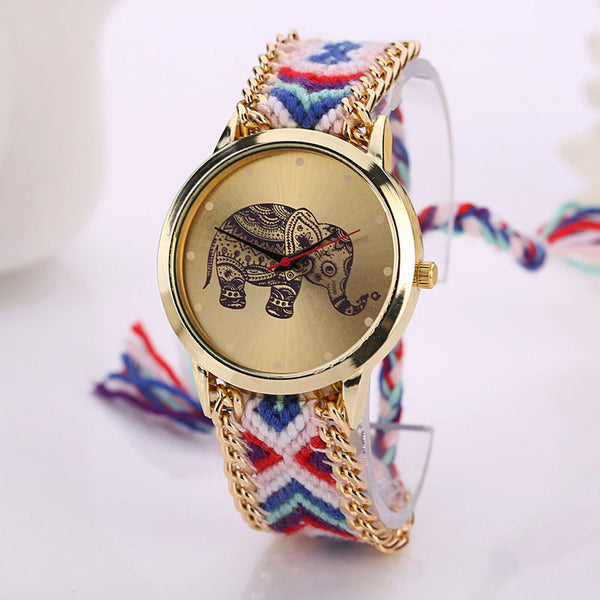 Elegant Womens Elephant Watch Bracelet